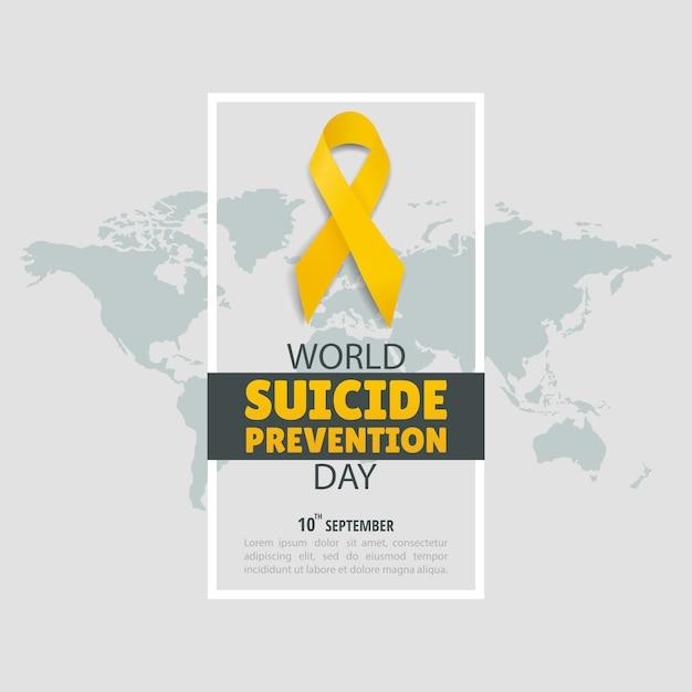 Ilustração do dia mundial da prevenção do suicídio Vetor Premium