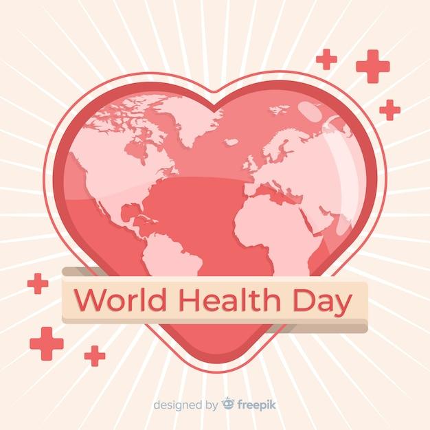 Ilustração do dia mundial da saúde com forma de coração Vetor grátis