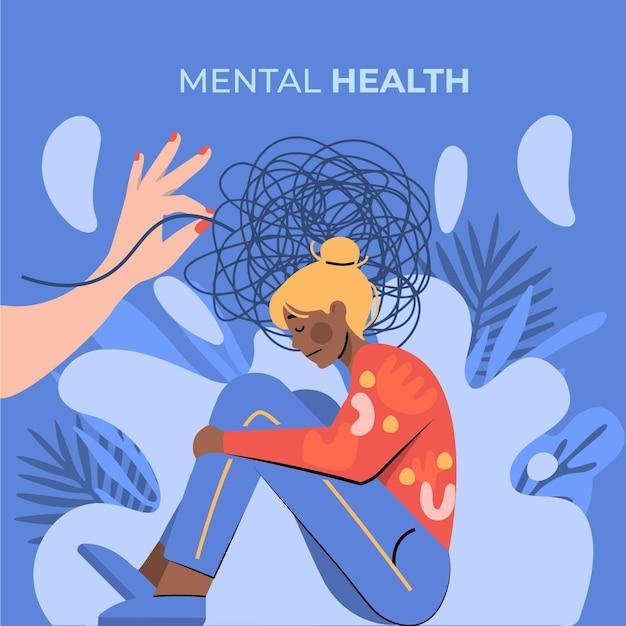 Ilustração do dia mundial da saúde mental Vetor grátis