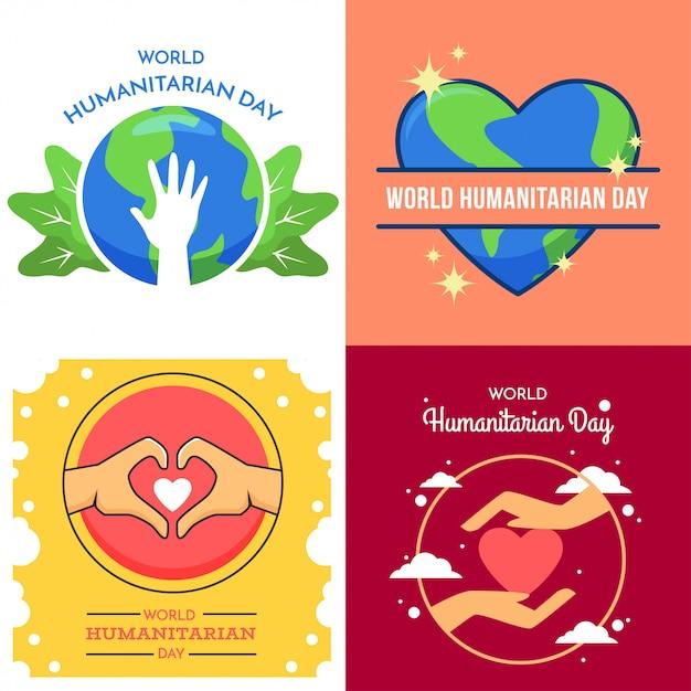 Ilustração do dia mundial humanitário Vetor Premium