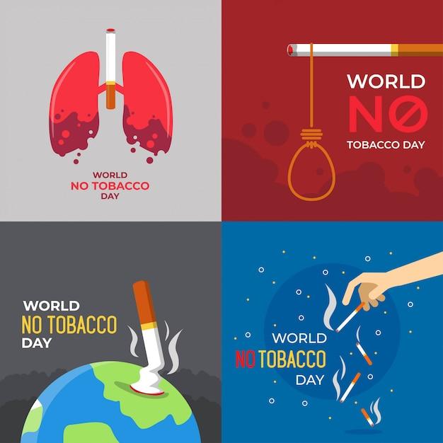 Ilustração do dia mundial sem tabaco Vetor Premium