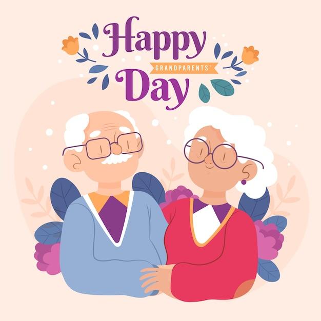Ilustração do dia nacional dos avós Vetor grátis
