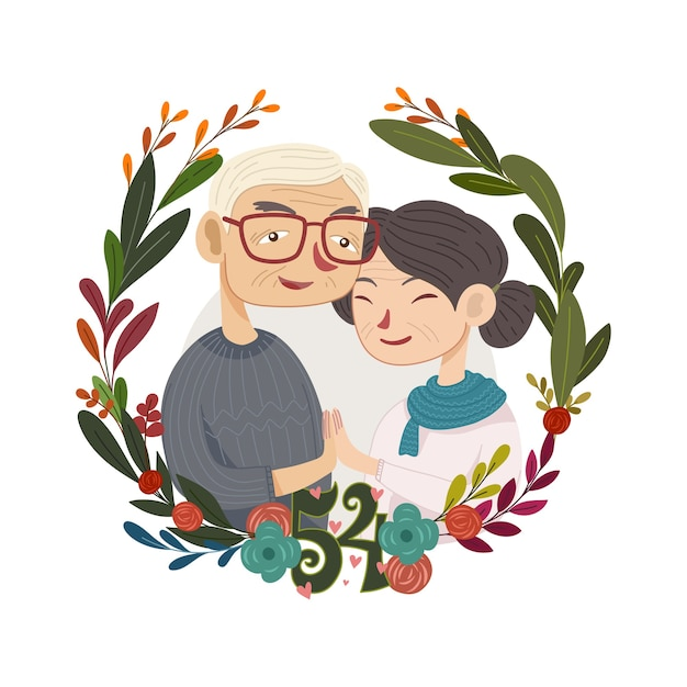 Ilustração do dia nacional dos avós Vetor Premium