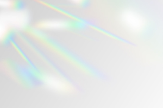 Ilustração do efeito de sobreposição do arco-íris Vetor Premium
