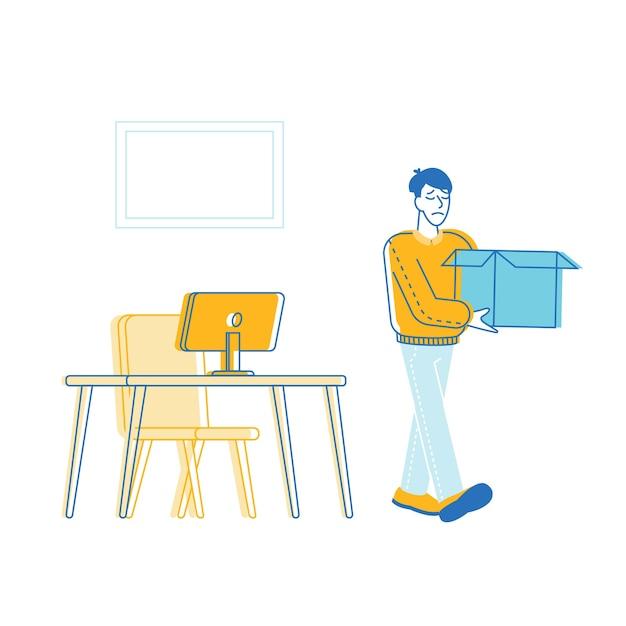 Ilustração do empresário ser despedido Vetor Premium