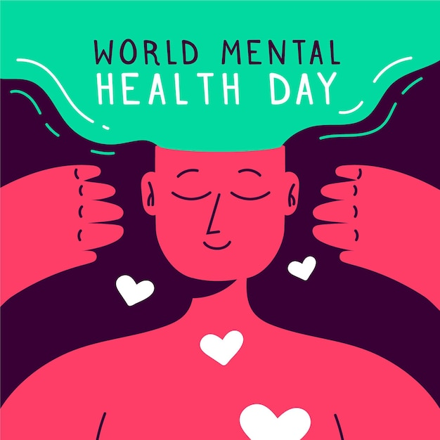 Ilustração do evento do dia mundial da saúde mental Vetor grátis