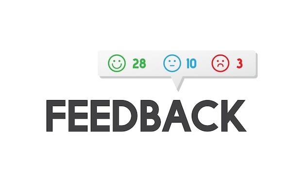 Ilustração do feedback do cliente Vetor grátis