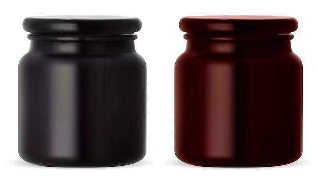 Ilustração do frasco de creme cosmético Vetor Premium