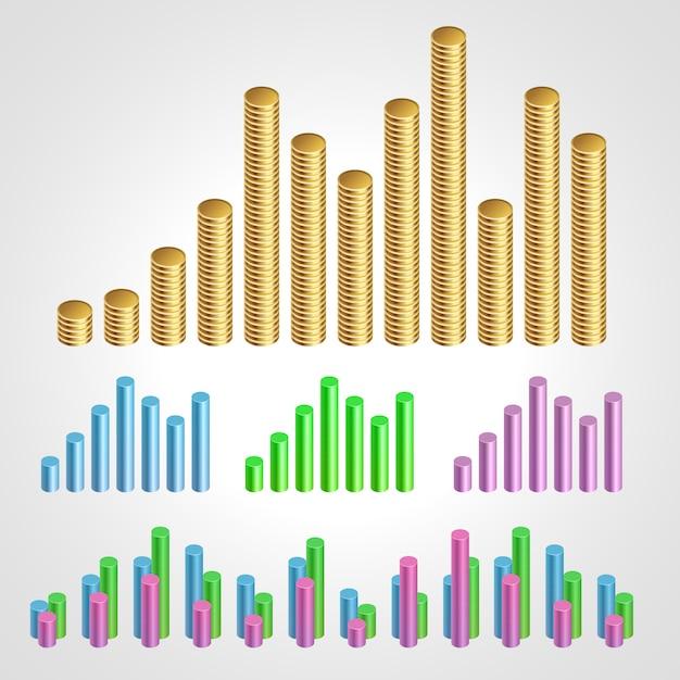 Ilustração do gráfico Vetor Premium
