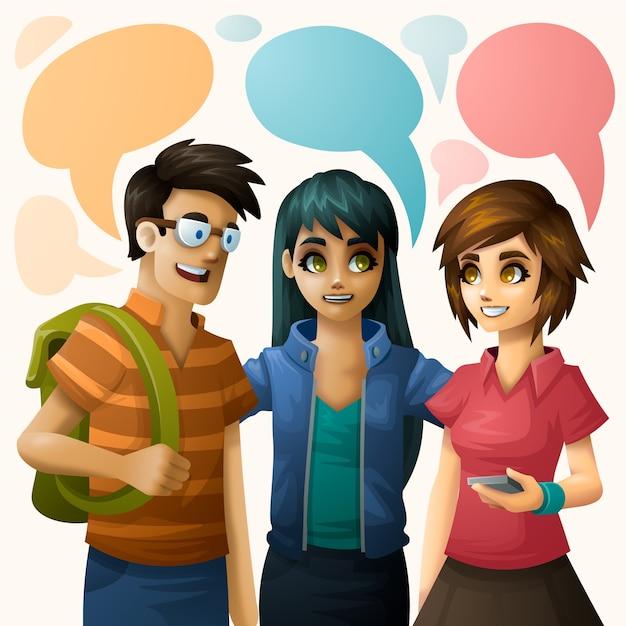 Ilustração do grupo de pessoas Vetor grátis