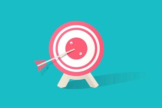 Ilustração do ícone de placa de dardo no fundo azul Vetor grátis