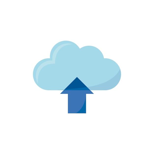 Ilustração do ícone de upload Vetor grátis