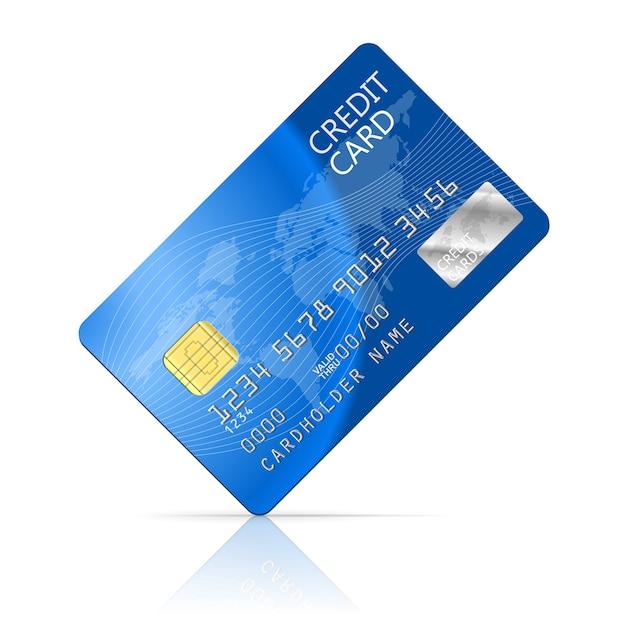 Ilustração do ícone do cartão de crédito isolado no branco Vetor grátis