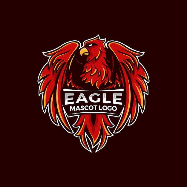 Ilustração do logotipo da águia mascot Vetor Premium