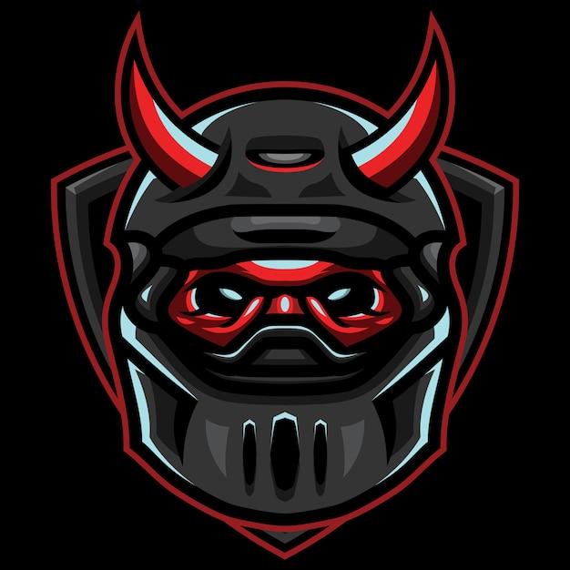 Ilustração do logotipo do devil riders esport Vetor Premium