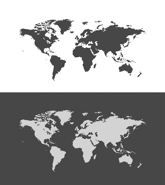 Ilustração do mapa do mundo Vetor Premium