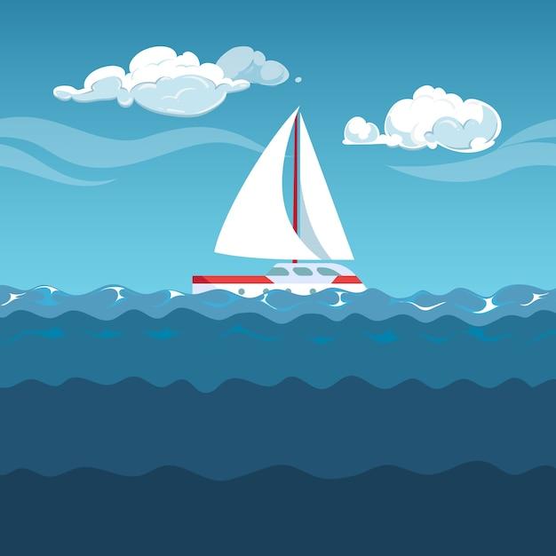 Ilustração do mar Vetor Premium