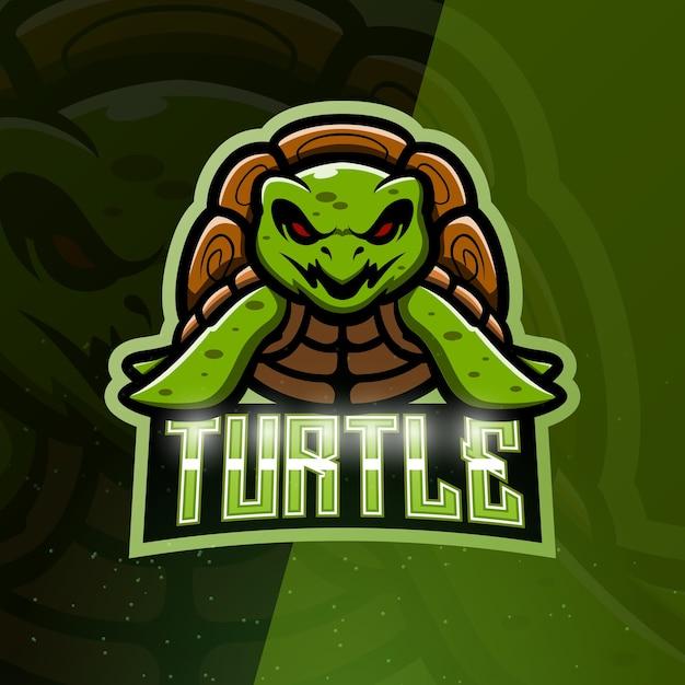 Ilustração do mascote da tartaruga Vetor Premium