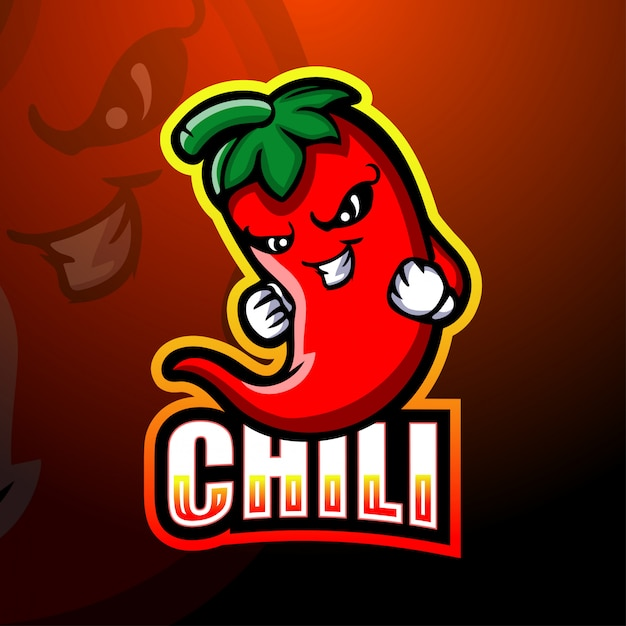 Ilustração do mascote do chili Vetor Premium