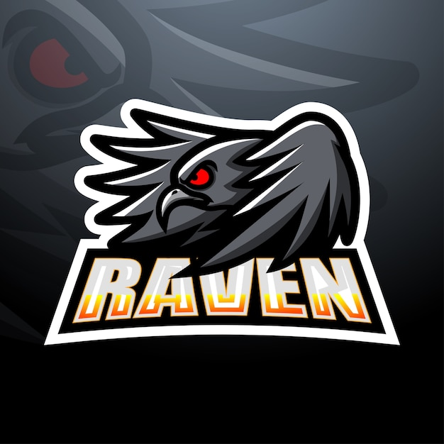 Ilustração do mascote raven esport Vetor Premium