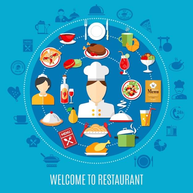 Ilustração do menu de restaurante Vetor grátis