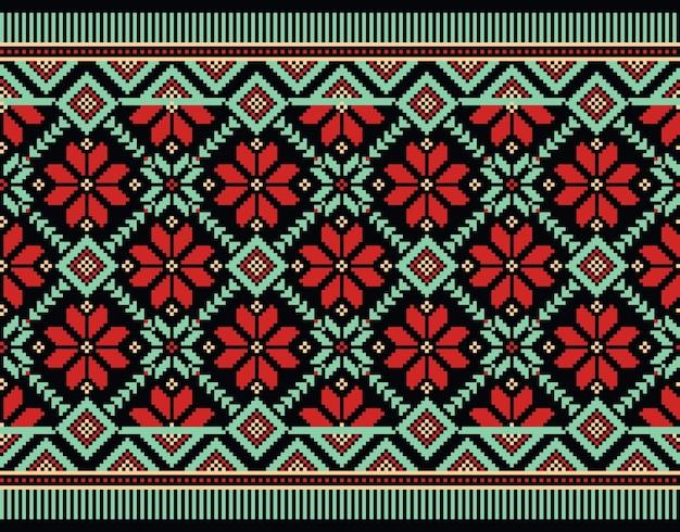 Ilustração do ornamento padrão feminino ucraniano Vetor grátis