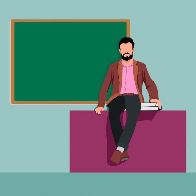 Ilustração do professor do sexo masculino Vetor Premium