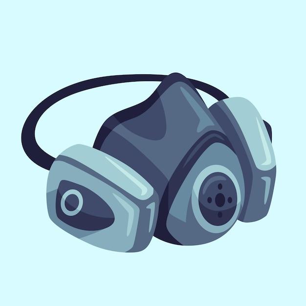 Ilustração do respirador com máscara de gás Vetor Premium