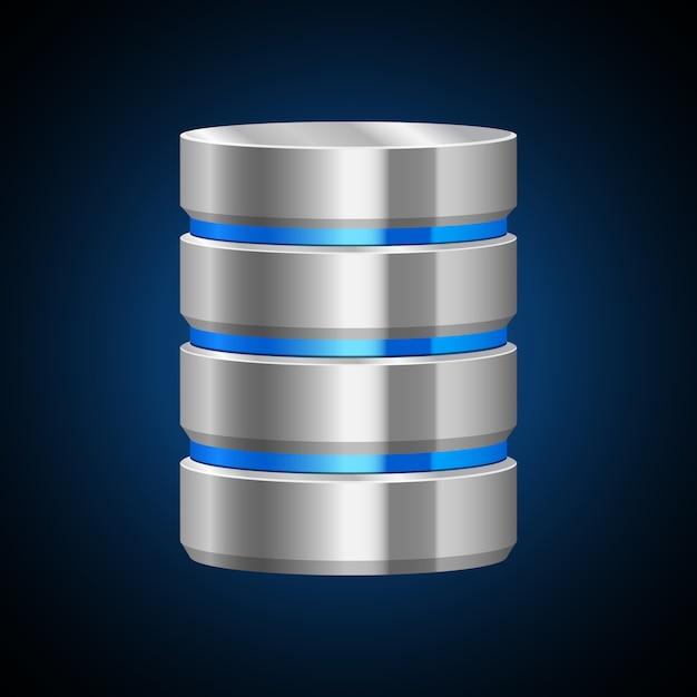Ilustração do servidor de dados no fundo branco Vetor Premium