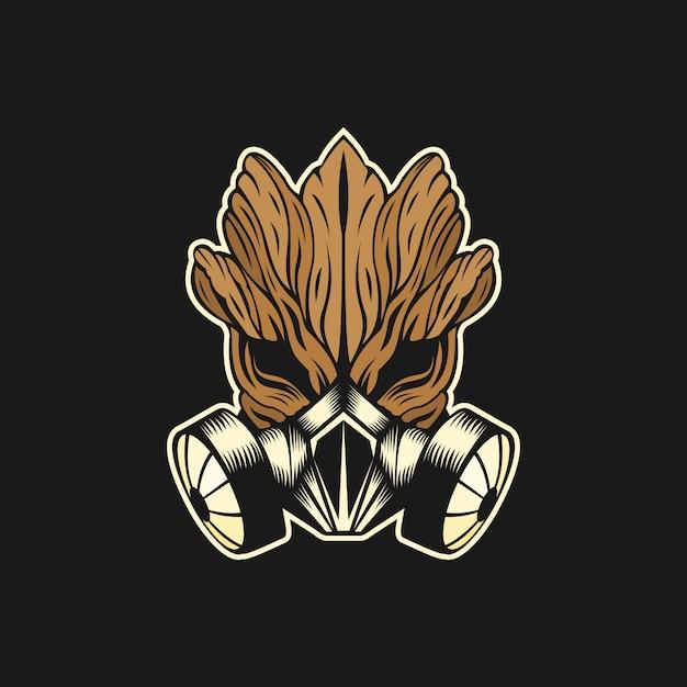 Ilustração do vetor de máscara de gás Vetor Premium