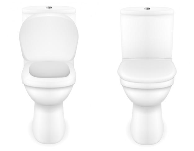 Ilustração do vetor de vaso sanitário Vetor Premium