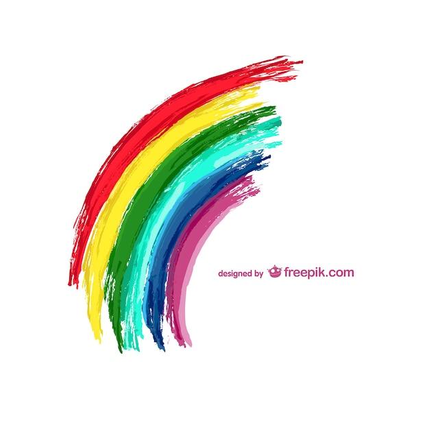 Ilustração do vetor do arco-íris Vetor grátis