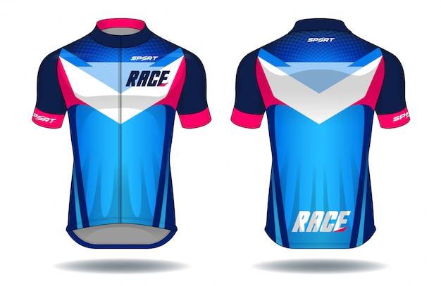 Ilustração do vetor do equipamento da proteção do desgaste de jersey.sport do ciclo. Vetor Premium