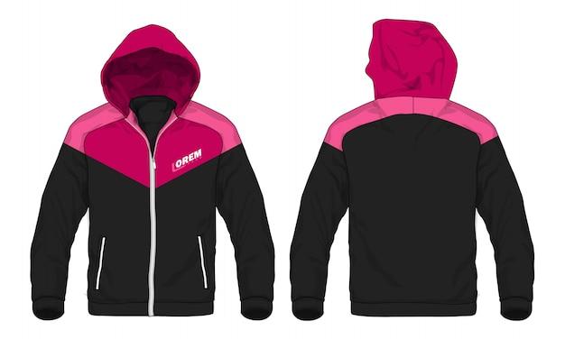 Ilustração do vetor do revestimento do hoodie do esporte. Vetor Premium