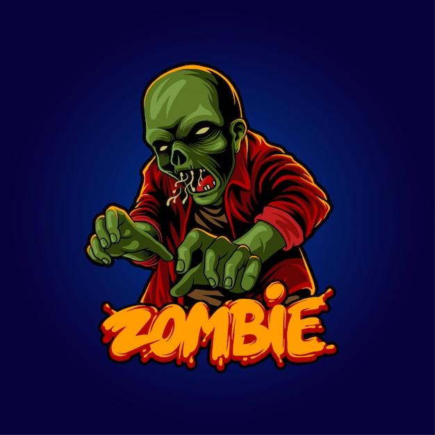 Ilustração do zombi do dia das bruxas Vetor Premium