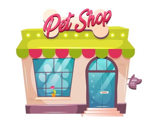Ilustração dos desenhos animados de loja de animais Vetor Premium