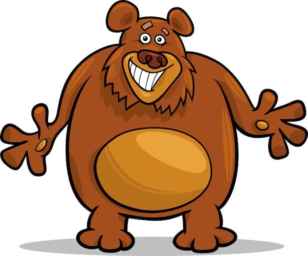 ilustração dos desenhos animados urso marrom baixar vetores premium