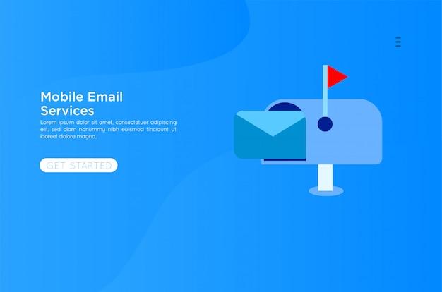 Ilustração dos serviços de e-mail Vetor Premium