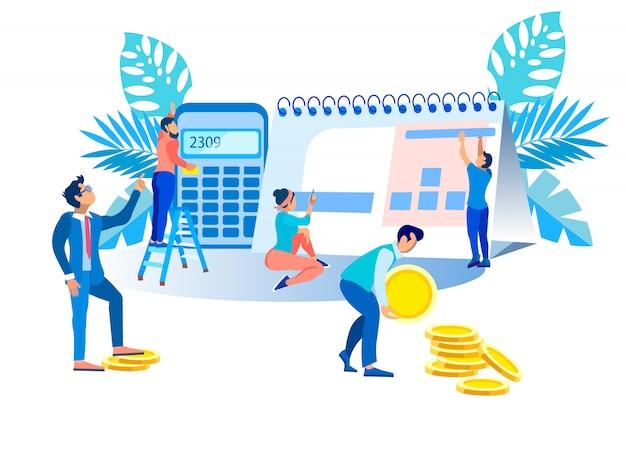 Ilustração eficiência externa e interna. Vetor Premium