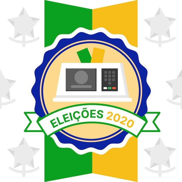 Ilustração eleições brasil 2020 Vetor Premium