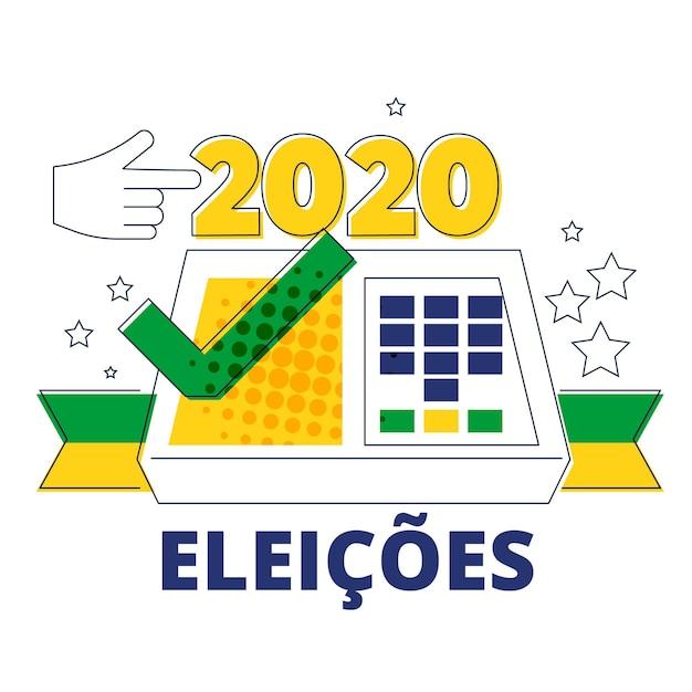 Ilustração eleições brasil 2020 Vetor grátis