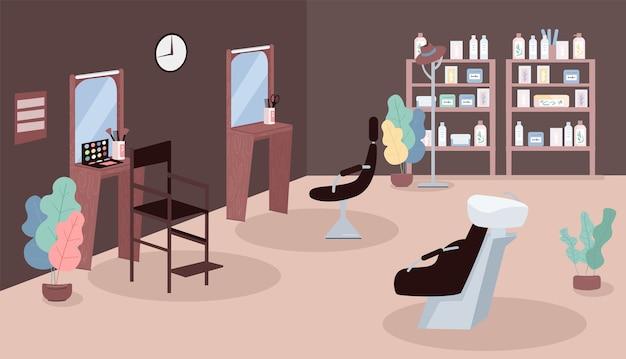 Ilustração em cor lisa para salão de beleza Vetor Premium