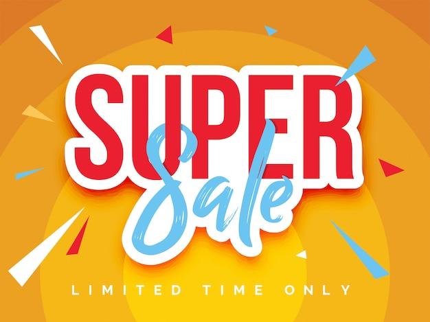 Ilustração em vetor banner super venda Vetor Premium