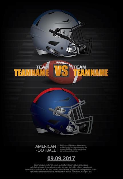 Ilustração em vetor cartaz de futebol americano Vetor Premium