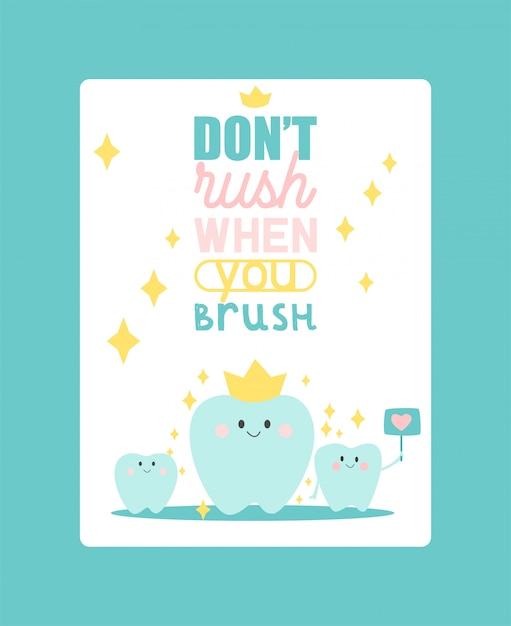 Ilustração em vetor cartaz odontologia. dente saudável sob proteção com efeito brilhante, conceito de clareamento de dentes. Vetor Premium
