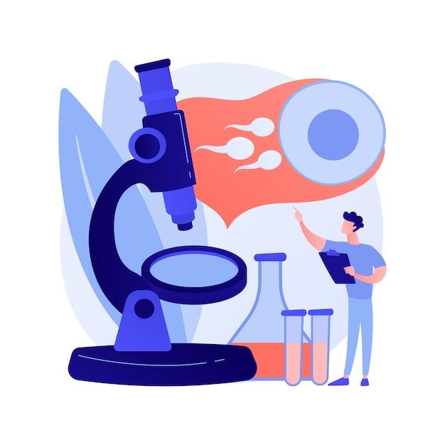 Ilustração em vetor conceito abstrato diagnóstico de infertilidade. causas de infertilidade feminina, diagnóstico de disfunção reprodutiva masculina, exame médico de esterilidade, metáfora abstrata de planejamento familiar. Vetor grátis