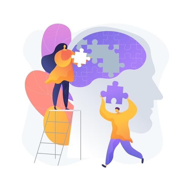 Ilustração em vetor conceito abstrato mindfulness. meditação consciente, calma mental e autoconsciência, focando e liberando o estresse, metáfora abstrata do tratamento alternativo da ansiedade em casa. Vetor grátis