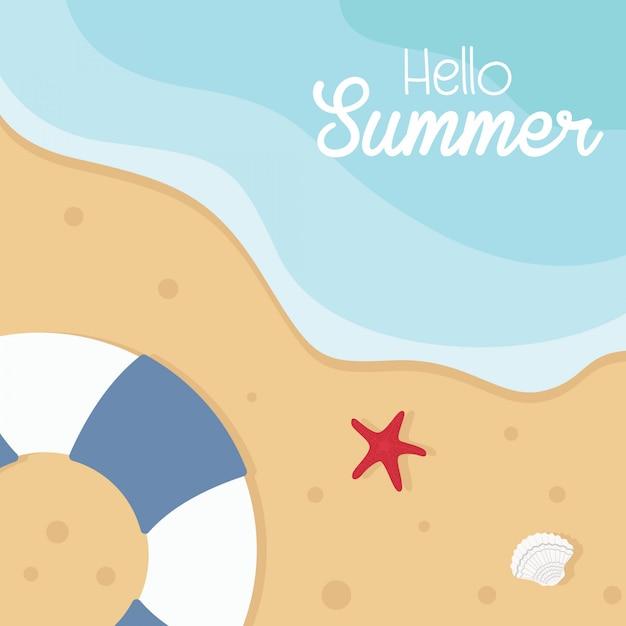 Ilustração em vetor conceito férias de verão. Vetor Premium
