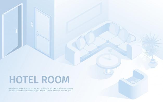 Ilustração em vetor confortável hotel apartamento Vetor Premium
