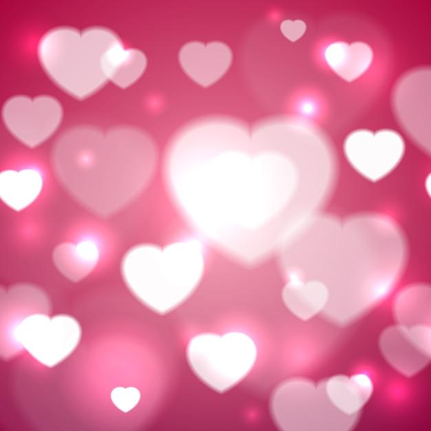 Ilustração em vetor corações para dia dos namorados Vetor grátis